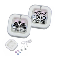 Ear Buds In Case w/ CSW or Your School Logo