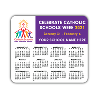 Calendar Magnet w/ School Name