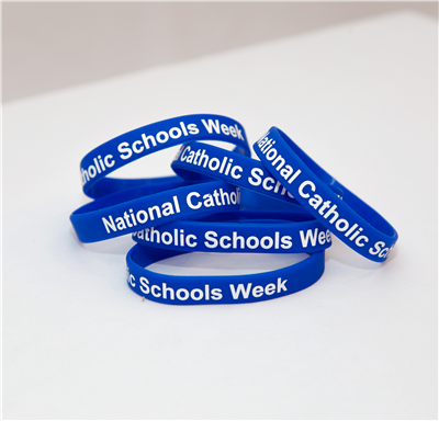 Catholic Schools Week Printed Silicone Wristbands