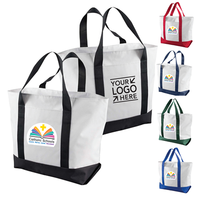 Canvas Boat Tote w/ CSW and Your School Logo